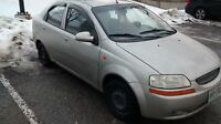 '04 chevy Aveo. $600 as is. Runs well