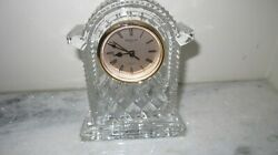 WATERFORD CRYSTAL LARGE GOLD FACED CARRIAGE CLOCK NEW IN BOX MSRP 198.00