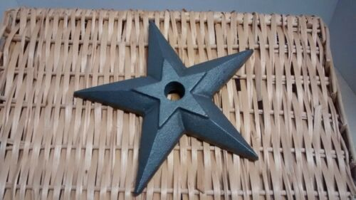 "1 Cast Iron Large Puffed Candle Star  size 8 3/4"" with a 7/8"" hole"