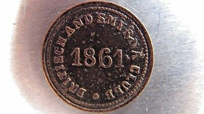 "Turkey/Ottoman Empire ""Britisch And Smyrna Club"" 1861 token."