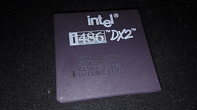 vintage cpu processor Intel i486 486 DX2 66MHZ A80486DX2-66