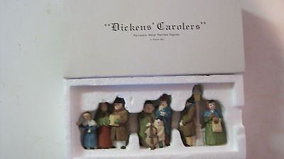 "DEPT 56 - DICKENS LOT 2: CAROLERS - WHITE POST RARE + ""GOD BLESS US, EVERYONE!"""