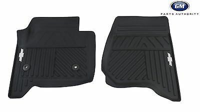 2014-2018 Chevrolet Silverado All Weather Front Floor Mats 84039114 Black OEM