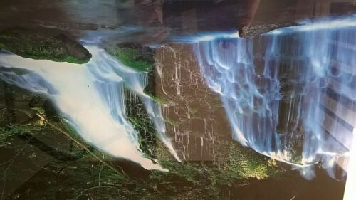 Vintage Waterfall Motion Light Mirror With Bird and Water Sounds & Movement