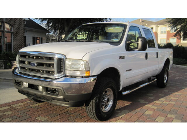 2003 ford f350 diesel 4x4 crew 7 3 liter lariat one ton short bed 4new tires tx used ford f. Black Bedroom Furniture Sets. Home Design Ideas