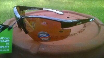 Maxx HD Sunglasses Raven 2.0 black golf driving lens brown amber mens womens