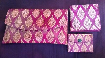 DAMASK Leather Trio Wallet Purse Clutch South Perth South Perth Area Preview