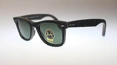 Ray Ban Icons Wayfarer Sunglasses RB2140 1162 Jeans Black With Green Lens (Ray Ban Icon 50mm)