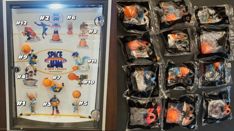 Free Shipping⚡️McDonald's SPACE JAM 2021 Happy Meal FULL set 12 Toys*Brand New*