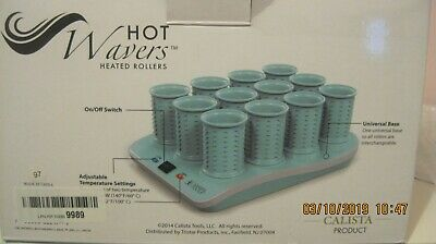 - Calista Tools Hot Wavers Short Wavers Heated Hair Rollers Curling Set of 12