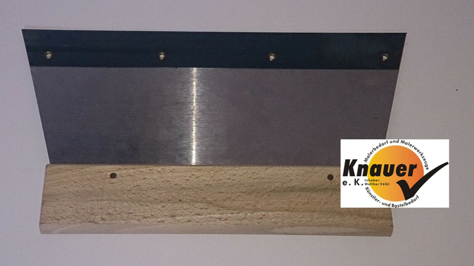 Mutterspachtel für wechselbare Zahnleisten Breite: 28 cm, Stahlblatt, Holzgriff