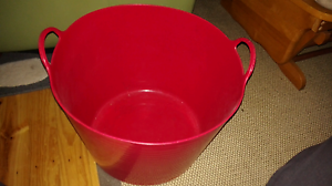 42 Litre Flexible plastic red tub ideal for holding toys in kids Kellyville The Hills District Preview