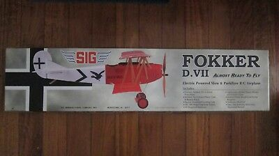 SIG Fokker D.VII Remote Control Airplane Model NEW Circa 2004
