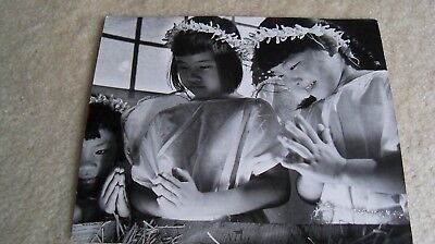 1952 press photo Honolulu Hawaii Christmas pageant oriental angels date on back (Oriental Angels)