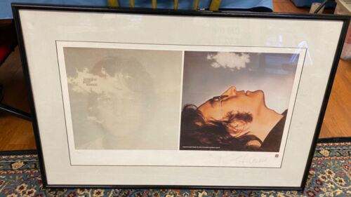 "Vintage 1995 John Lennon ""Imagine"" Lithograph Print Limited Edition 34"" x 21.5"""
