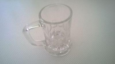 Mini-Bierkrug-Schnapsglas -ca.6 cm hoch-3,5 cm rund-Rand unten 4,5 cm(ca.JAEIRC) ()