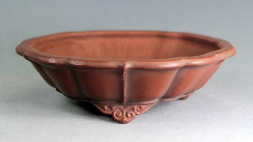 Tokoname Flower-shape Bonsai Pot by Bigei, #bigei48 : 152*150*H45mm