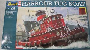 Revell 1/108 Harbour Tug Boat Plastic Model Kit, item 05207 New