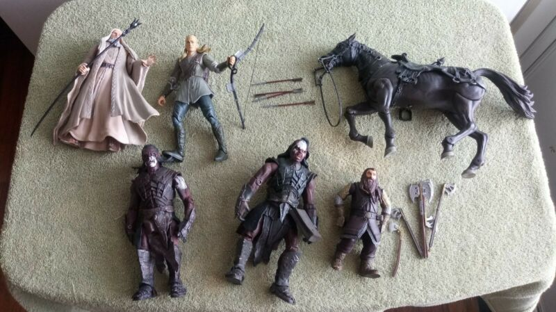 Lord of the Rings Lot Of Action Figures 2001 NLP-Marvel (l#335)
