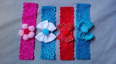 7 PCS Baby Girl Hair Accesory Headband Newborn Toddler Lace Hair Band