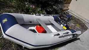 Zodiac RIB, rigid hard bottom dinghy tender Yamaha 8hp Cambridge Clarence Area Preview