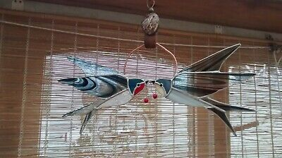 Stained glass Pair of swallows.