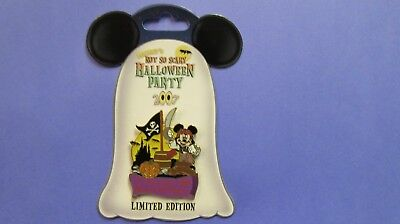 Disney World 2007 Mickey as a Pirate / Not So scary Halloween Party Pin -LE 4000](Disney World Mickey Mouse Halloween Party)