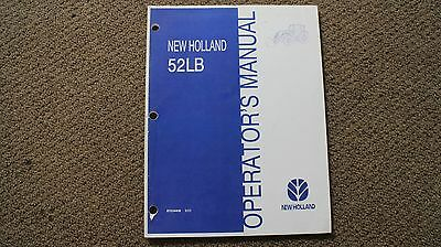 Operators Manual For New Holland 52lb Tractor Loaders. Part 87034406