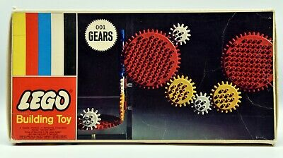 Vintage 1960's Lego Gears 001 Nice but Not Complete