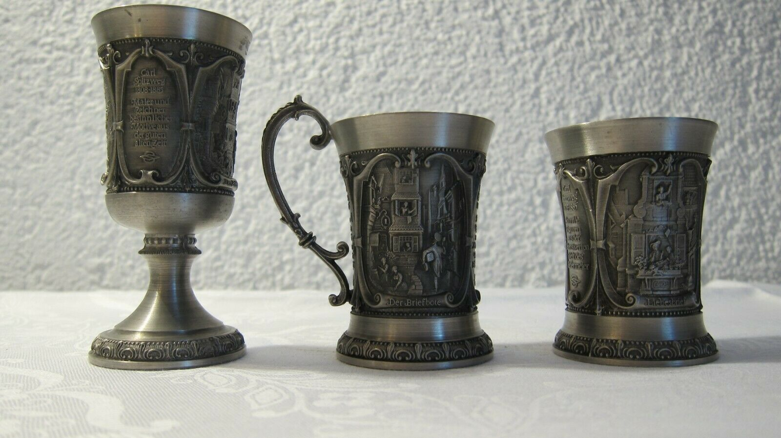 WMF Zinn-Galerie ALBRECHT DÜRER = 2 Schnapsstamper-neu in der Ovp