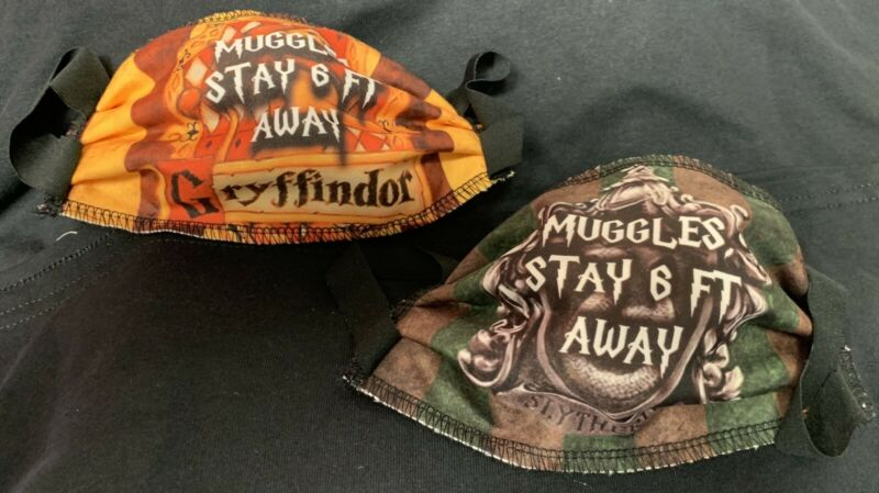 face mask Muggles Keep Away 4 Layer Cloth reusable