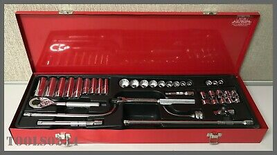 "Proto Socket Set w/Case #J52138 - 33 Pc. Fractional - 3/8"" Drive Socket Set"