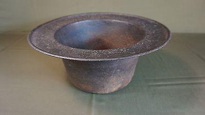 "Very Rare Large Korean Joseon Dynasty Solid Iron Fire Vessel 13"""