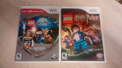 LEGO Harry Potter: Years 1-4 & 5-7 Nintendo Wii bundle both Complete Very Good