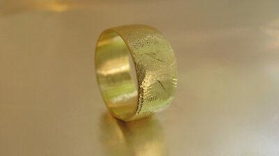 Boda Anillo 14K Oro Amarillo Alianza para Mujer / Hombres. Único Textura...