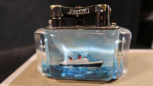 g Dunhill Table Aquarium Lighter RMS Queen Elizabeth