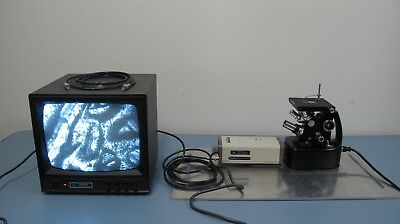 Unitron Mec-7415 Inverted Metallurgical Microscope System W. Camera Monitor