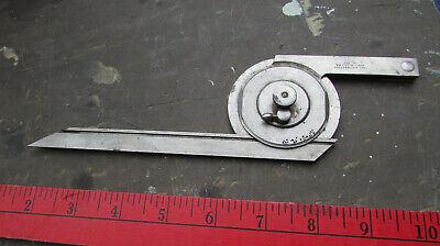 Antique Usn Us Navy Starrett No.360 Universal Bevel Protractor 7 Blade Tool