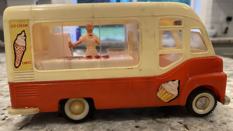 Vintage Toy Ice Cream Truck Joe's Ices