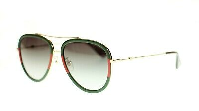 Gucci Women Aviator Sunglasses GG0062S Metal Frame 57mm (Gucci Sunglasses Metal Frame)