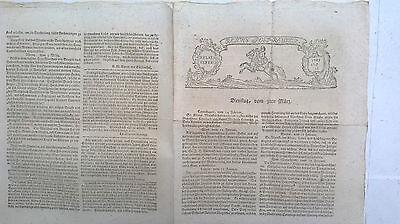 1761 35 Zeitung Siebenjährigen Krieg / Leipzig Berlin Armeetagebuch Göttingen