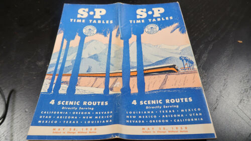 Public Railroad Timetable May 28 1950 Southern Pacific SP