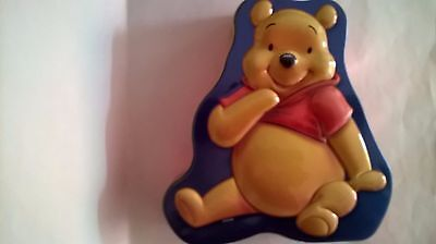 WINNIE THE POOH DISNEY EMPTY BISCUIT TIN SHAPED COLOURFUL