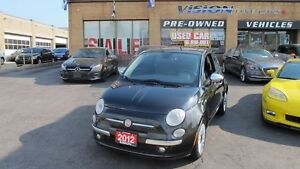 2012 Fiat 500 SPORT/LEATHER/SUNROOF