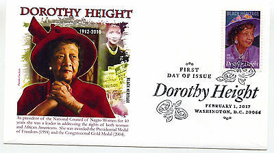 5171 Dorothy Height, Black Heritage 2017, Panda Cachets, pictorial, FDC