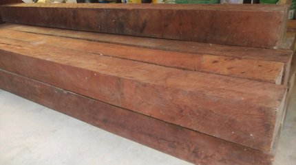 RED GUM TIMBER POSTS 2M LONG - 12 AVAILABLE - POOL FENCE IDEA