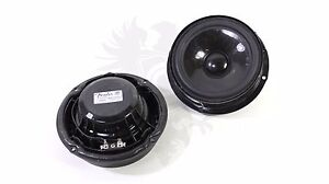 2x NEW Genuine VW OEM FENDER Audio Golf Jetta Passat Speakers Woofer PAIR Set