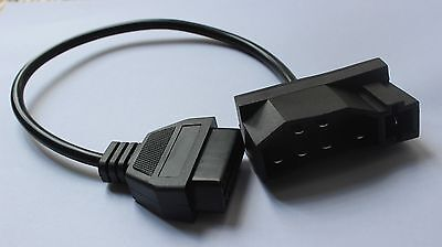 For Ford 7 pin OBD1 to OBD2 Adapter Code Reader Scanner Check Engine Repair Tool