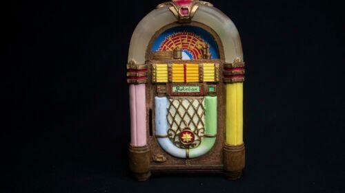 Vintage Jukebox Shaped Coin Bank Music Box