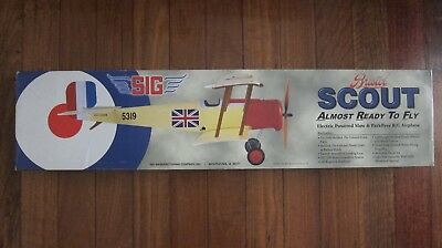 SIG Bristol Scout Remote Control Airplane Model NEW Circa 2003
